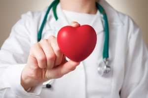 Heart in doctor's hand